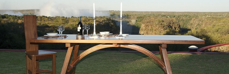 Savanna Wood Bridge Table