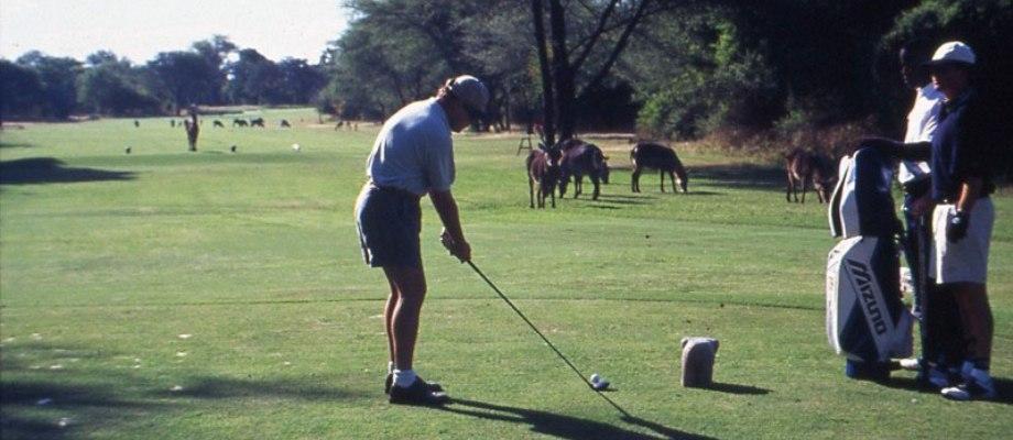 Golfing in Victoria Falls