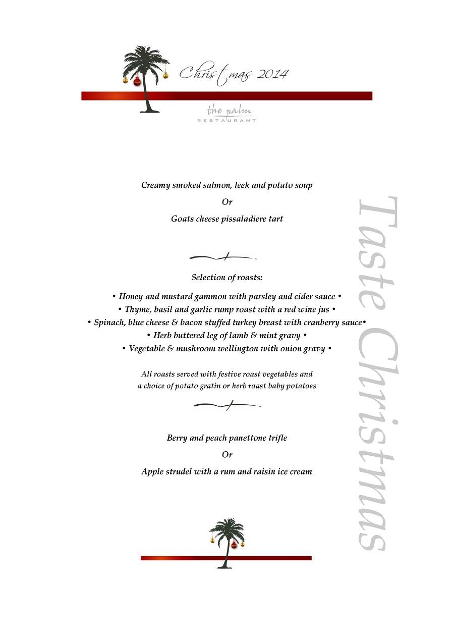 The Palm Restaurant Menu