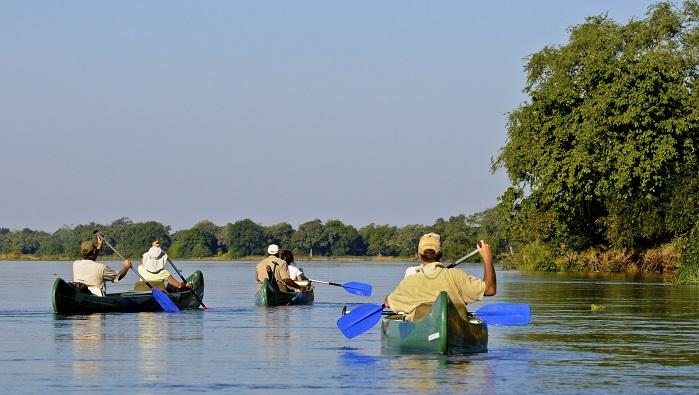 Canoeing Victoria Falls