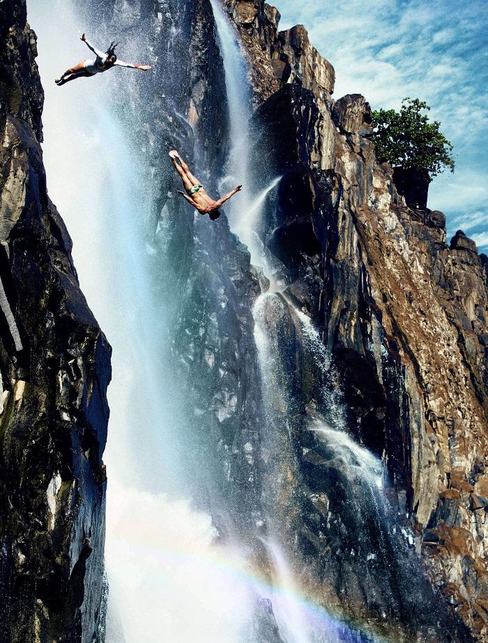 Cliff-Diving Victoria Falls