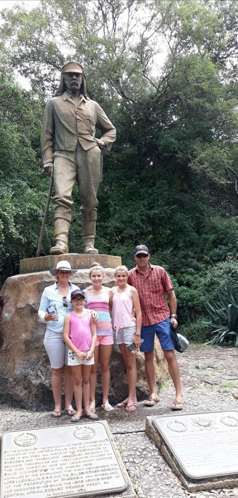 Family site seeing Victoria Falls