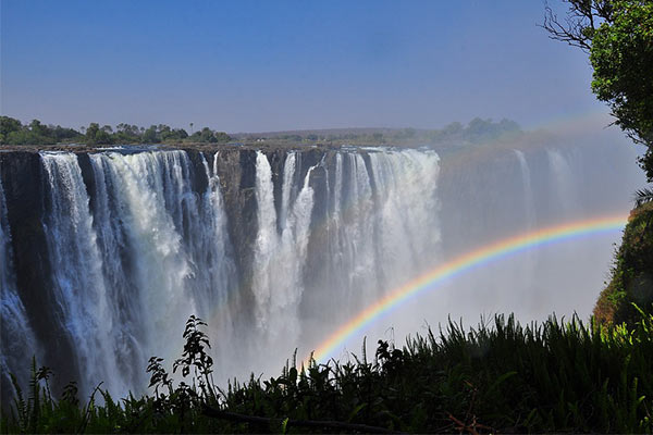 Rainbow on Victoria Falls
